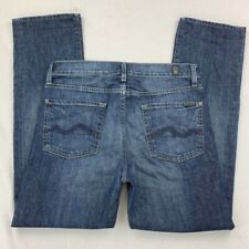 7 For All Mankind Men's Slimmy Jeans Blue Stretch Light Wash Stitching Slim 30