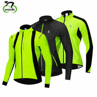 Men Winter Cycling Jacket Thermal Fleece Warm Bike Sports Jersey Tops Coat S-XXL