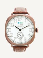 NIB LA MER COLLECTIONS Vintage Oversize Watch / Brown-Copper (MSRP: $118)