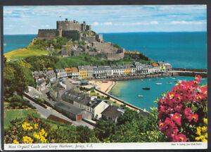 Channel Islands Postcard - Mont Orgueil Castle & Gorey Harbour, Jersey RR4739