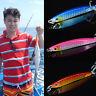 3 colors Jigging Metal Spoon lure High Quality VIB artificial bait hook boat SEA