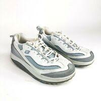 Skechers Shape Ups Jump Start Womens Size 7.5 White Blue Walking Shoes 11803
