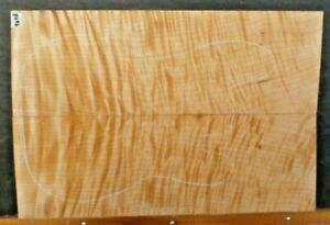Quilted Tiger Curly Maple Wood 9648 LES PAUL 5A GUITAR Top 25x 16.75x .75