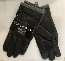 Tahari Men's Genuine Leather  Gloves With Touch-Large