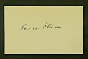 Ernie Shore Signed 3x5 Played with Babe Ruth 1915-17 Perfect Game