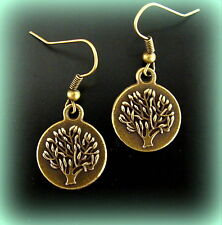 TREE of LIFE JEWELRY EARRINGS Genealogy Family Tree Art Deco look TREE Design