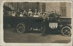 Motor Vehicle Charabanc with Driver & passengers operated by Balmoral Garage