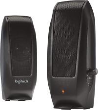 Logitech 2.0 Stereo Speakers System 3.5mm Aux Jack for Mac Laptop Desktop PC NEW
