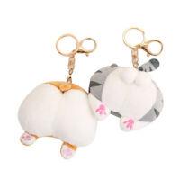 Pendant Girl Toys/Plush Keychain Funny Cat Butt Animals Soft Toys Bag Decor LY