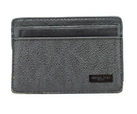 Authentic Michael Kors Mens Leather Card Wallet Holder Black