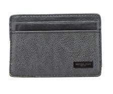 Authentic Michael Kors Mens Leather Card Wallet Holder Black