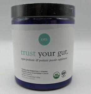 Ora Trust Your Gut Vegan Probiotic Prebiotic Powder Apple & Raspberry 7.9 oz