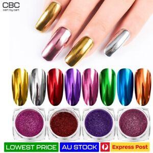 Nail Chrome Mirror Effect Powder HIGH Pigment Glitter Dust Manicure Nail Art AU
