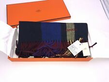 Genuine Brand New Men's Hermes Cashmere Scarf - with Box and Tags