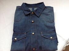 Camicia jeans Benetton blu tg.M come nuova regalo