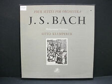 JS Bach FOUR SUITES FOR ORCHESTRA Philharmonia Orchestra KLEMPERER Angel 2LP NM