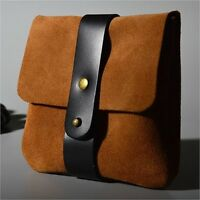 Soft Genuine Leather Travel Watch Pouch Case A01