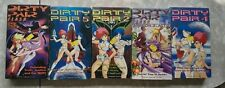 Five Dirty Pair Anime VHS tapes