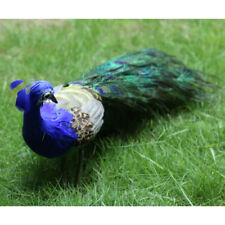 Peacock Garden Ornament Lawn Statue Patio Feature Bird Animal Figure