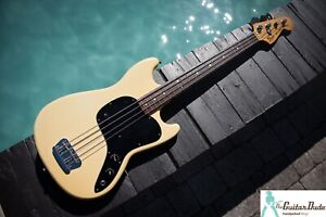 """Classic 1978 Fender Musicmaster Bass - Olympic White - 30"""" Scale. - Tons of Mojo"""