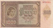 🇭🇷 1.000 Kuna - 1941 - Kroatien - P-4 🇭🇷
