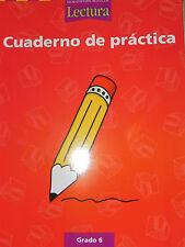 Houghton Mifflin Reading Spanish Practice Work Book 6th Grade Level 6