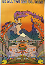 """Peter Max Psychedelic Read Poster, Authentic Vintage 1971, 11 X 16"""" Hippie 4"""