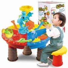 Kids Sand Bucket Water Wheel Table Play Set Toys Summer Outdoor Beach Sandpit To