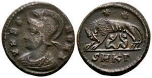 URBS ROMA (330-333 AD) Very Rare Follis. Cyzicus #RS 8124
