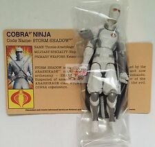 "COBRA STORM SHADOW Hasbro GI JOE 3.75"" Inch 2012 Action Bagged LOOSE Figure"