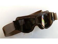 AVIATOR Goggle t2 Gunmetal Smoke/Marrone Classic Occhiali Moto