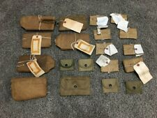 Lot Vintage Us Army Military Surplus Tactical Gear Canvas Wrapped Bags/Pouches