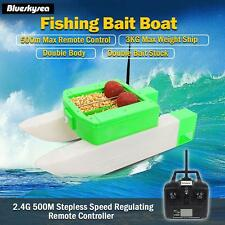 T168 Rc Fishing Bait Lure Carp Boat 500M Watercraft Double Stock 3kg Green Color