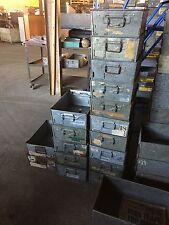 GALVANISED TOTE PANS , METAL STORAGE BINS / TRAYS 45x30x15cm high