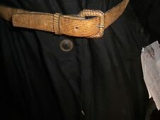 Vintage Lizard leather skinny belt for Lady Small from Mexico 1980