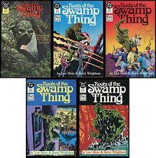 Roots of the Swamp Thing Comic set 1-2-3-4-5 Lot Len Wein & Berni Wrightson art