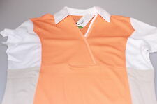 Callaway Cross V Neck Moisture Wicking Golf Polo Orange/White/Beige S,M,L & XL