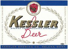 Kessler Beer 7 oz Label