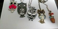 5 owl Necklaces Cute