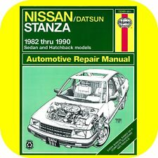 Repair Manual Book for Nissan Stanza 82-90 XE Deluxe Owners