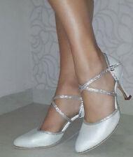 New Ladies White Wedding Ballroom Latin Salsa Tango Dance Shoes ALL SIZE