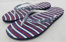 New! ROXY 'Flag' USA Theme Sandal Flip Flops Red White Blue Women's Size: 6