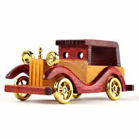 "15cm 5.9""  Hand-Crafted Wooden Antique Retro Car Auto-Mobile Model Miniature NEW"