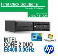 HP ELITE 8000 SFF CORE 2 DUO 6 GHz 4GB 250GB HDD Window 7 Professional Warranty