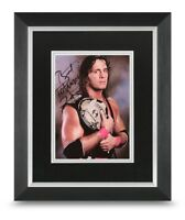 Bret Hart Signed 10x8 Framed Photo Display WWF Wrestling Autograph Memorabilia
