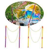 Giant Magic Bubble Kit Outdoor Jumbo Garden Toy Game Children Wand Blower Maker@