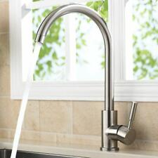 Swivel Modern Hot& Cold Mixer Stainless Steel Kitchen Sink Faucet Brushed Nickel