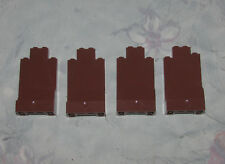 Lego Lot of 4 Brown Rock Wall Parts Bricks Panels - 2X4X8