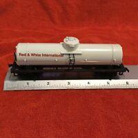 Vintage HO Scale Model Railroad Tank Car Red & White Brand 1978