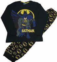 BATMAN 100% COTTON BLACK  PJ SET PYJAMAS AGES 7-14  NEW IN BAG ex-chainstore